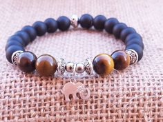 Lucky Elephant Buddhist Mala Yoga Bracelet by BohemianChicbead