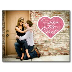 Heart  |  Photo Save the Date Postcard