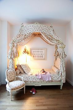 Herve Pierre French canopy bed little girl room