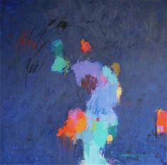 """""""Blue Mambo #2"""", 40 x 40"""", mm/c"""