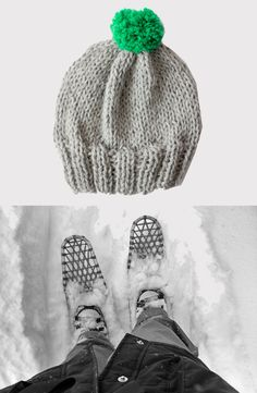no more grey days  / bobble hat