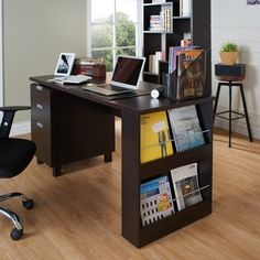 Furniture of America Tuston Espresso Office Desk with Built-in File Cabinet - Free Shipping Today - Overstock.com - 17563620 - Mobile