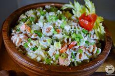 Salada de Macarrão ~ Pasta Salad with Cashew Mayo   Veganana