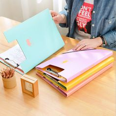 Hospitable Brief Style Striped Transparent A5 A4file Folder File Bag Document Bags Office Stationery Useful Filing Production Filing Products