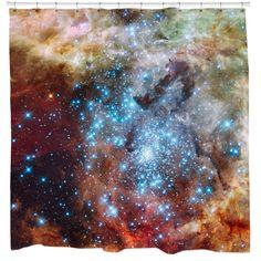 R136 Super Star Cluster Shower Curtain