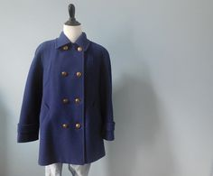 Vintage MACKINTOSH WOOL pea COAT double breasted by DstudioVintage