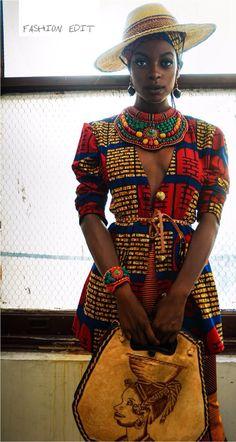 afrikanischer stil It's 'An All African Affair' between Queen E. Collection & Zen Magazine for New December Editorial! African Inspired Fashion, African Print Fashion, Africa Fashion, Fashion Prints, African Prints, African Attire, African Wear, African Dress, African Women