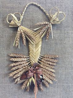 Welsh house blessing. Traditional corn dolly for by TheWheatWeaver