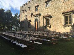 country tables #castello di meleto