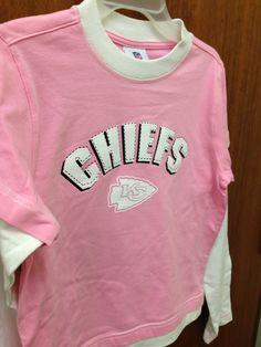 KC Chiefs girls pink long sleeve t-shirt