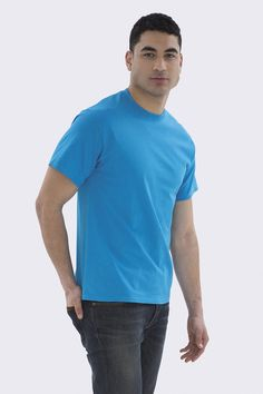 The Authentic T-Shirt Company Everyday Cotton T-shirt Pantone Matching System, T Shirt Company, Custom Screen Printing, Columbia Blue, Orange And Purple, Custom T, Custom Clothes, Cotton Tee, Printed Shirts