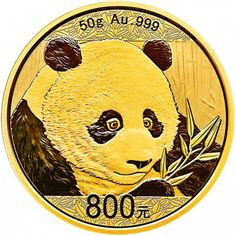 China 800 Yuan Gold Panda 50 gr Gold PP coincombinat New 2018 Panda Design Now Avaiable Jetzt Erhältlich Neuer Gold Panda