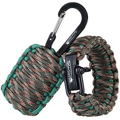 """Dimples Excel """"Adventure"""" Set: Parachute Cord Paracord Survival Bracelet for Wrist Approx.18cm-20cm (7""""-8"""") with Stainless Steel Black Bow Shackle + Carabiner """"Grenade"""" Survival Kit Dimples Excel http://www.amazon.com/dp/B00TDYK7GG/ref=cm_sw_r_pi_dp_mERavb0SWMVX9"""