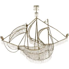 Glass Pearl Caravel Ship Chandelier   From a unique collection of antique and modern chandeliers and pendants  at http://www.1stdibs.com/furniture/lighting/chandeliers-pendant-lights/