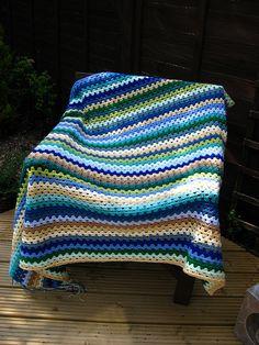 Granny Stripe in the Garden