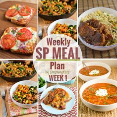 Slimming Eats SP Weekly Meal Plan – Week 1