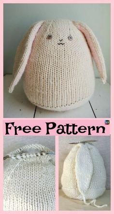 8 Knitted Adorable Bunny Free Patterns #freeknittingpatterns #bunny #amigurumi #toys #giftidea