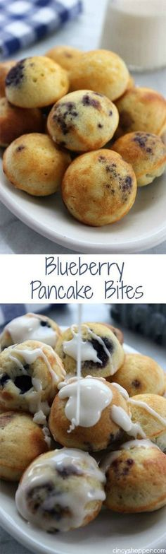 Blueberry Pancake Bites . more here http://artonsun.blogspot.com/2015/05/blueberry-pancake-bites.html (Breakfast Recipes Mornings)