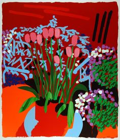 Tall Dutch Tulips Silkscreen Print by Bruce McLean