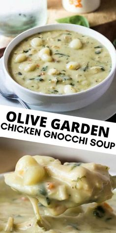 Olive Garden Chicken Gnocchi Soup Want a tasty copycat recipe that everyone will love? This Olive Garden Chicken Gnocchi Soup is easy, flavorful and completely addicting. Simple ingredients make this better than the original! Olive Garden Chicken Gnocchi, Chicken Gnocchi Soup, Chicken Garden, Easy Soup Recipes, Chicken Recipes, Cooking Recipes, Gnocchi Recipes, Baked Chicken, Soup And Sandwich