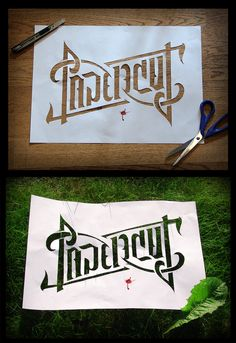Papercut Handcut Ambigram By Johan Skylling