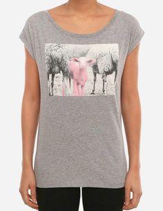 iriedaily - Pink Lamb Tee grey-mel.