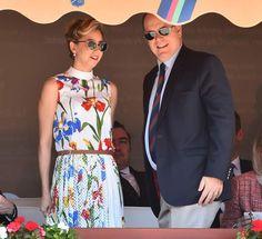 Jazmin Grace Grimaldi et son père le prince Albert II de Monaco le 19 avril 2018