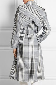 Temperley London | Checked linen and cotton-blend trench coat | NET-A-PORTER.COM, $1425, 51/49 linen/cotton, rayon silk cotton lining