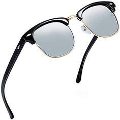 c1bb0fcc00 Aisprts Gafas de sol polarizadas retro medio marco clásico para Hombre y  Mujer #Ropa #