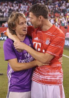 Luka Modric and Xabi Alonso