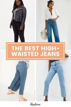 We reached out to real women across the country, with all different body types and denim preferences, to figure out what the best high-waisted jeans are. Here are 16 pairs that made the cut. #jeans #pants #highwaisted Boyfriend Jeans, Mom Jeans, Jeans Pants, Wide Leg Jeans, High Waist Jeans, Big Thighs, Petite Jeans, Denim Trends, Embroidered Jeans