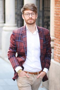 what a blazer, plus trousers n specs