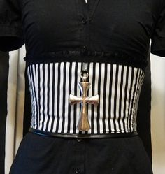 Caged Desire Striped Corset Belt by fluffergirl on Etsy, $60.00