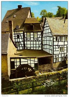 Water Mill at Montschau, Germany    ..source delcampe.net