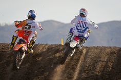 Race Report : Lake Elsinore MX 2012 | Features, News, Race Report | Transworld Motocross. Fight for the lead!