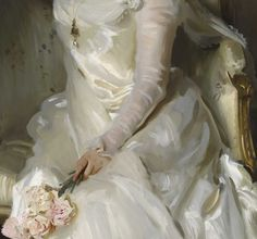This portrait depicts John Singer Sargent's lifelong friend Sarah Sears, a photographer and patron of the arts in Boston. Oil Portrait, Old Art, Pretty Art, Fabric Painting, Traditional Art, Oeuvre D'art, Art Gallery, Fine Art, Artwork