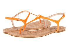 KORS Michael Kors Joni Neon Orange Patent/Cork - 6pm.com