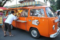 All over the world people have found different ways to use the VW bus. Here is one used as a food truck inThailand