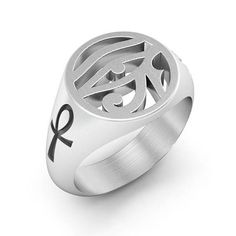 Sterling Argent .925 oxydé Script Love Band Ring Taille 3