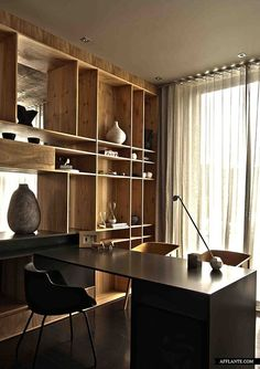 Check Out 23 Elegant Masculine Home Office Design Ideas. If you are a guy and used to work at home, here are some cool ideas how to design a home office for you. Study Interior Design, Home Office Design, Office Designs, Office Ideas, Interior Ideas, Casas Interior, Study Design, Bureau Design, Design Bedroom