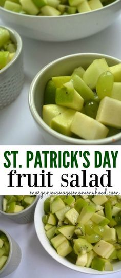 Patrick's Day Fruit Salad A simple and healthy treat, this St. Patrick's Day Fruit Salad is a fun way to celebrate the holiday! Packed with all of your favorite green fruits, you won't need luck for your kiddos to love it! St Patrick Day Snacks, St Patricks Day Food, Saint Patricks, St Patricks Day Snacks For School, Irish Stew, Green Fruit, New Fruit, Kids Fruit, Green Foods