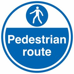 Cheap Signs and Labels quotPedestrian Routequot Mandatory Safety Sign Anti Slip Self Adhesive Vinyl 450 mm Length x 450 mm Width deals week Safety Message, Workplace Safety, Pedestrian, Adhesive Vinyl, Health And Safety, Ads, Flooring, Signs, Safety