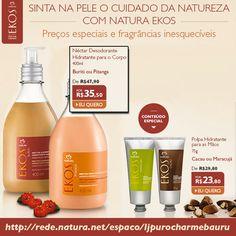 Compre os hidratantes natura no boleto ou no cartão em até 06x sem juros. Preços especiais fragrâncias inesquecíveis.  Hidratantes Natura, acesse >>> http://rede.natura.net/espaco/ljpurocharmebauru/nossos-produtos/hidratantes-cat101?_requestid=177343  Curta a Fanpage >>> https://www.facebook.com/ljpurocharmebaurunaturaonline