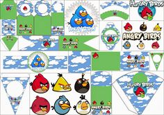 Angry Birds con Nubes: Imprimibles Gratis para Fiestas. | Oh My Fiesta! Friki