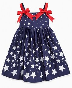 patriotic and reaching for the stars...either way this is one sweet dress for your itty bitty