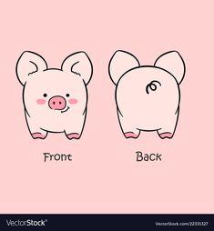 pig nail art - Cartoon cute pink pig drawn with a tablet vector image on Pig Nail Art, Pig Nails, Pig Art, Cartoon Drawings, Cute Drawings, Cartoon Pig, Pink Drawing, Pig Illustration, Kawaii Doodles