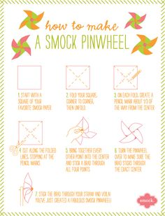 DIY Project – Make your own Pinwheels with Smock's Eco-Gift Wrap! | Eco-friendly letterpress inspiration | Smock