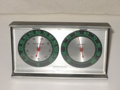 Vintage Trio Smiths Thermometer Weather Barometer