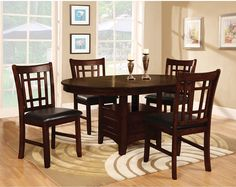 Dining Room Furniture - Dalton 7-Piece Dining Package – Chocolate - has a leaf