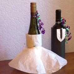 Bachelorette wine bottle decorations